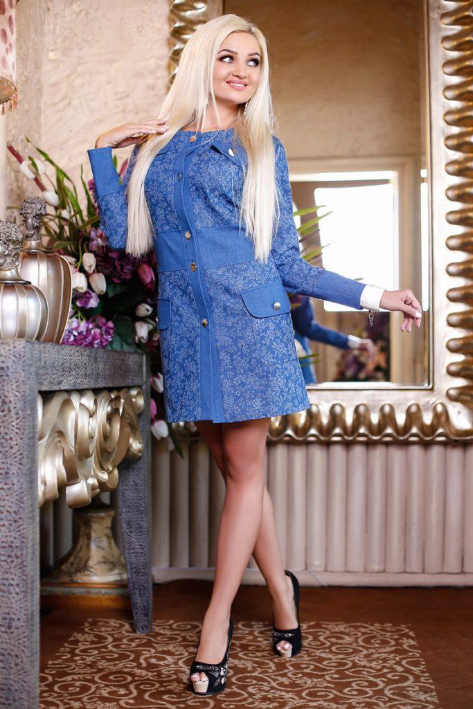 Джинсовый кардиган-платье