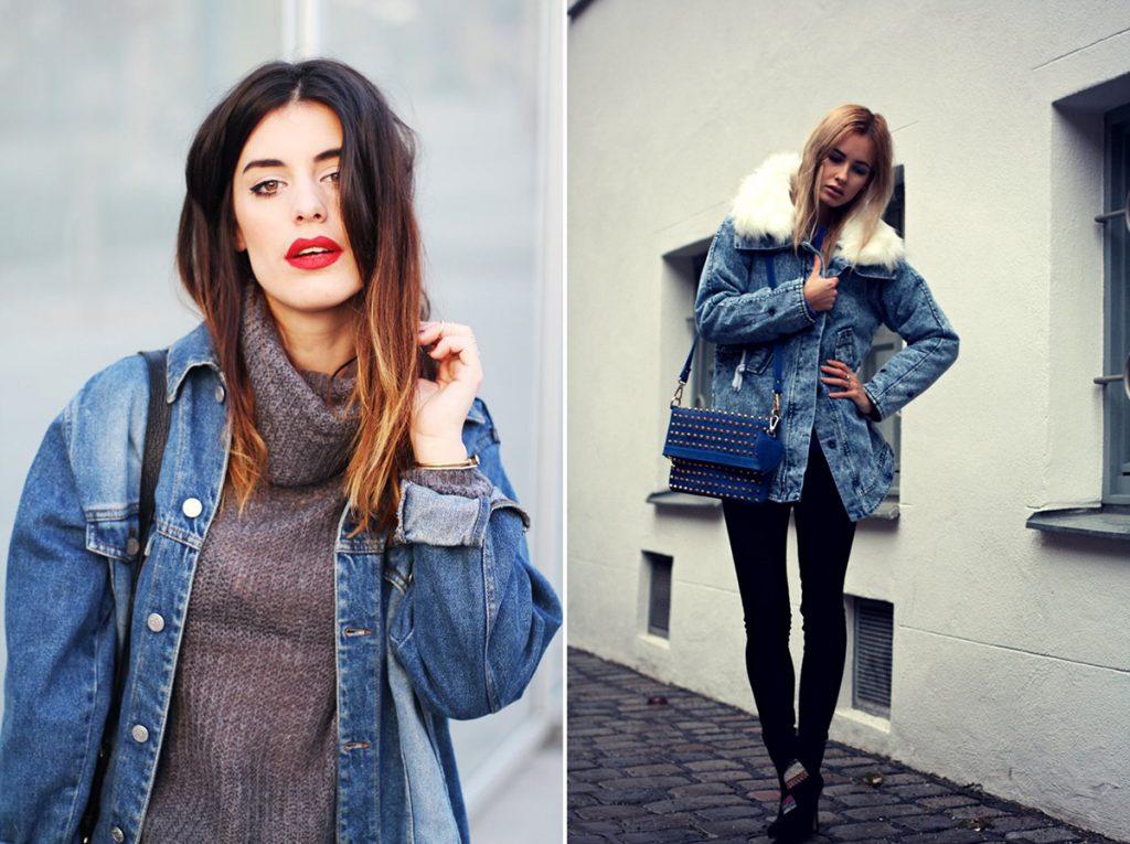 Красивые образы с джинсовым плащом
