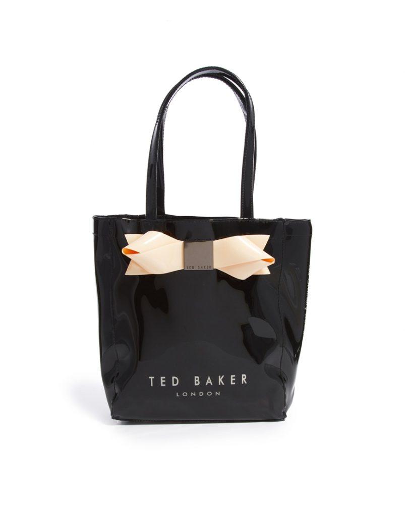 Черная сумка с бантом