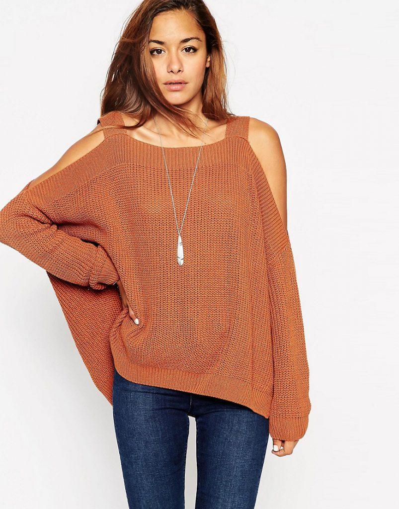 Вязанные длинные свитера женские