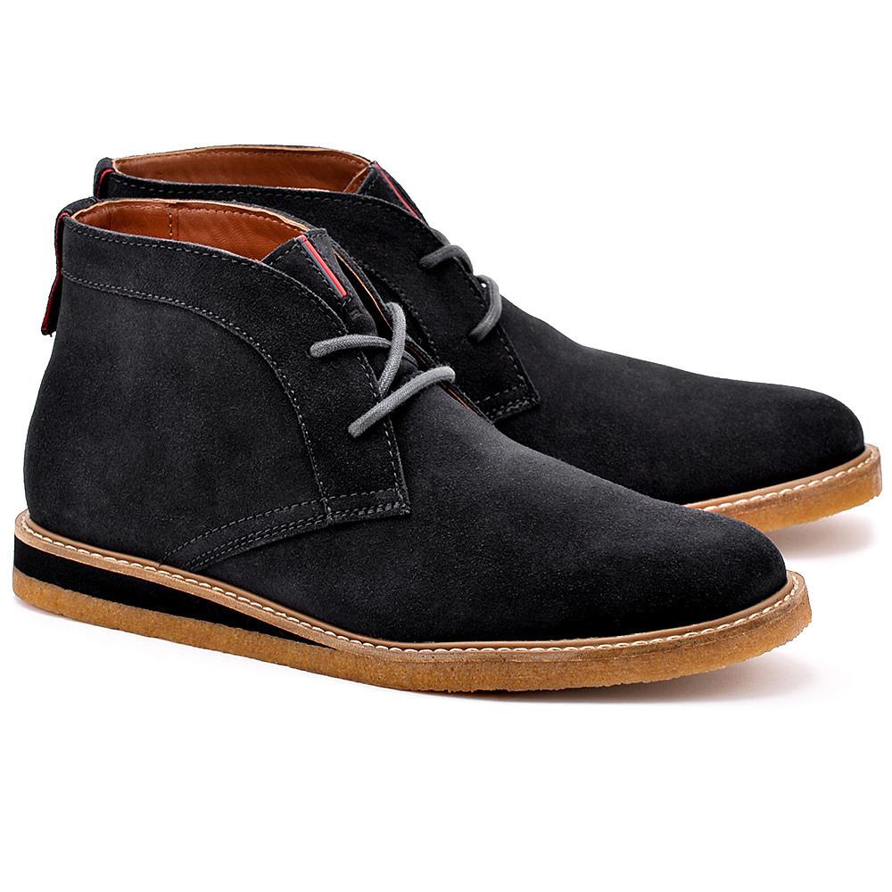 Черные замшевые мужские сапоги