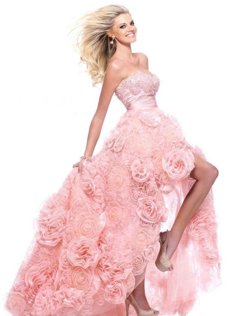 Свадебные платья розового цвета купить