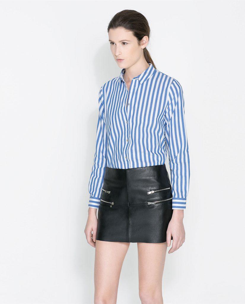 Женская рубашка в полоску с юбкой f5de9defe4017