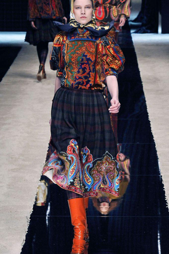 Юбка и блузка в русском стиле