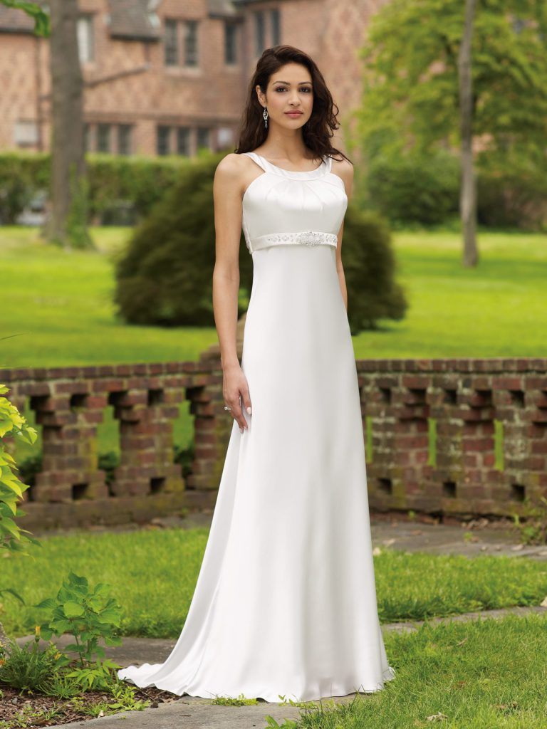 Элегантное свадебное платье в стиле ампир