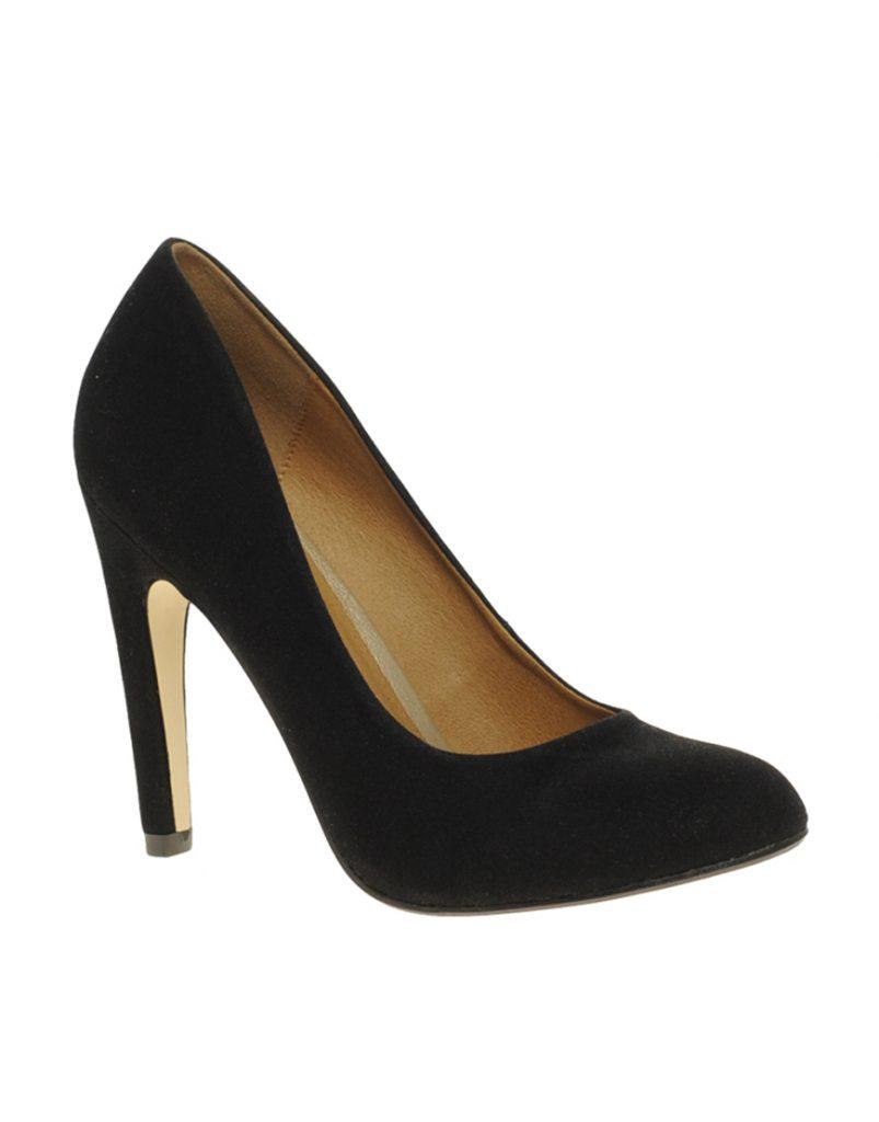Стильные черные туфли с круглым носом