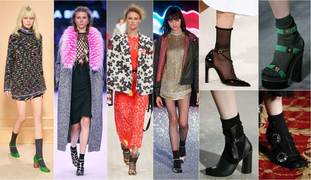 Образы с туфлями с носками