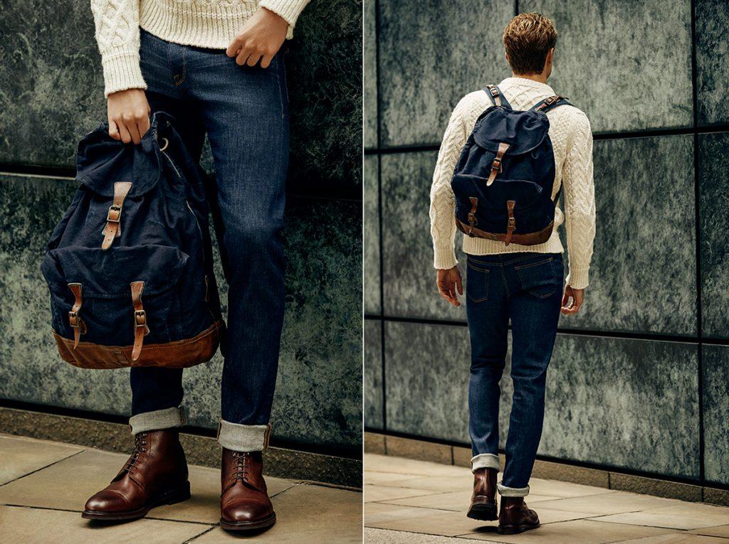 Модный мужской джинсовый рюкзак