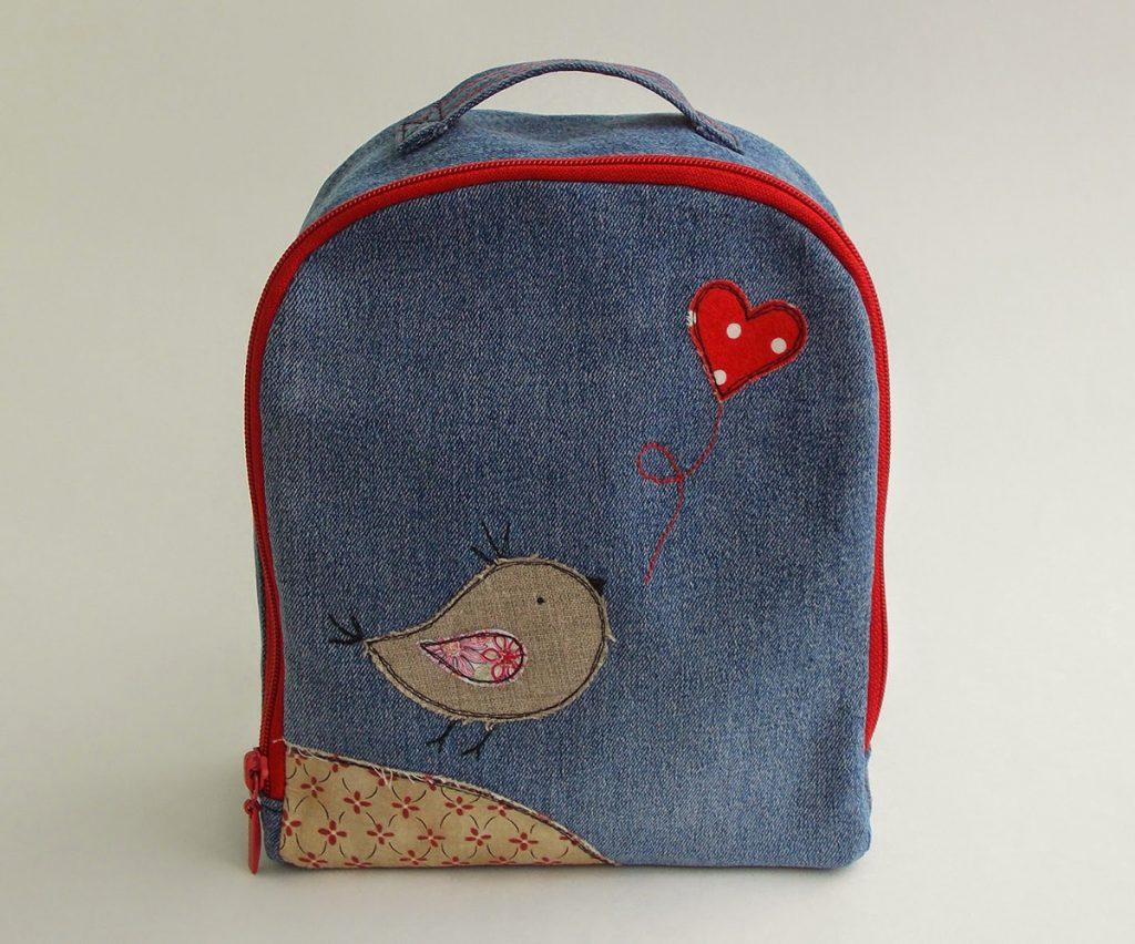 Джинсовый рюкзак для девочки