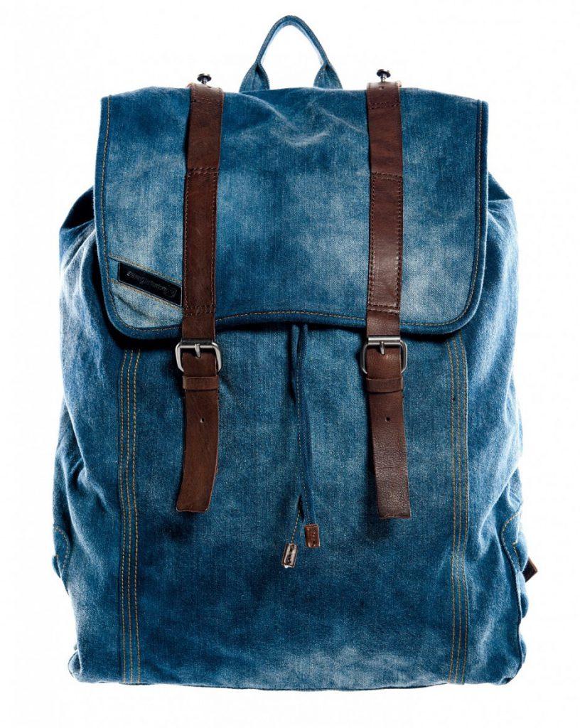 Мужской джинсовый рюкзак