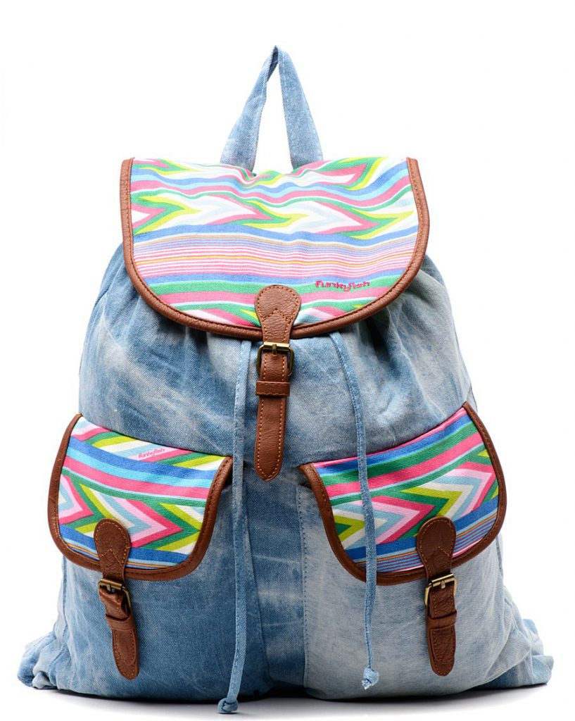 Яркий джинсовый рюкзак