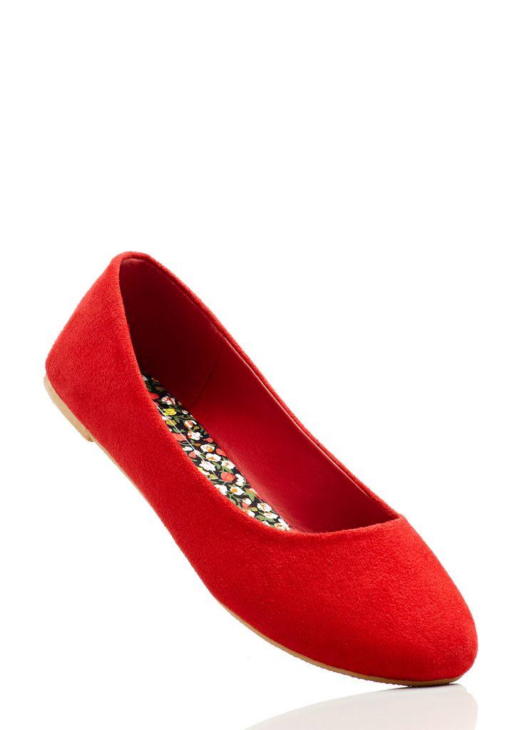 Элегантные красные балетки