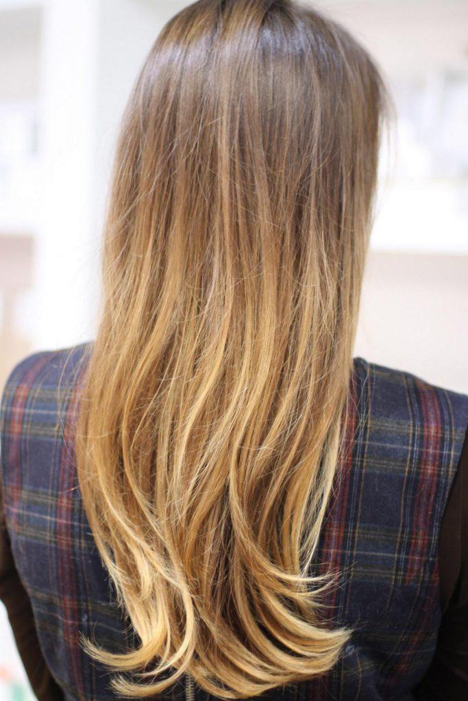 Пляжное омбре на волосы