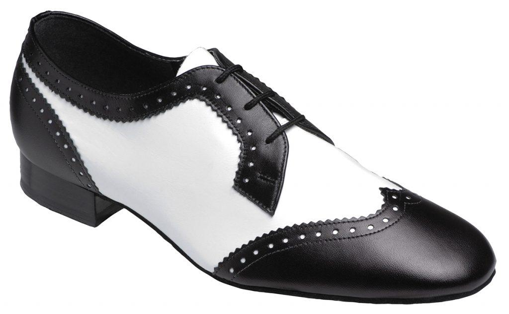 Мужские черно-белые туфли