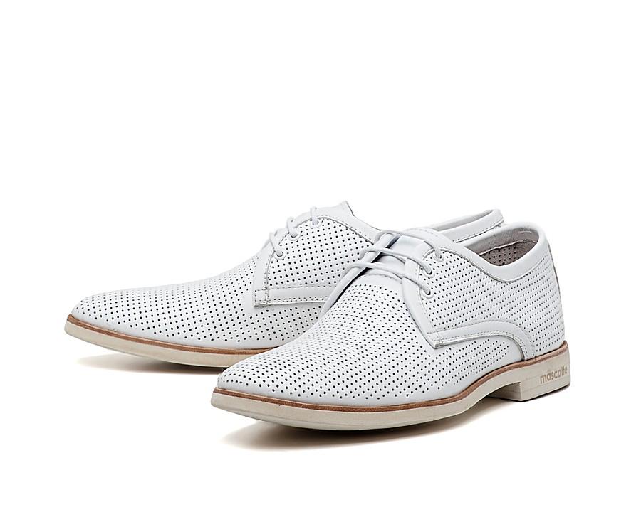 Мужские свадебные летние белые туфли