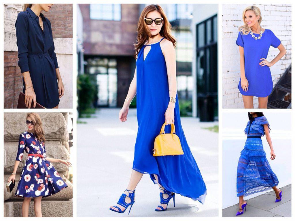 Образы с синими босоножками