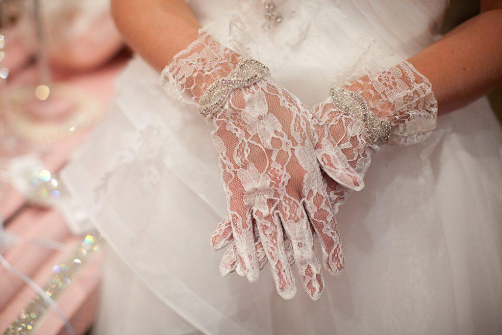 Свадебные перчатки недорого
