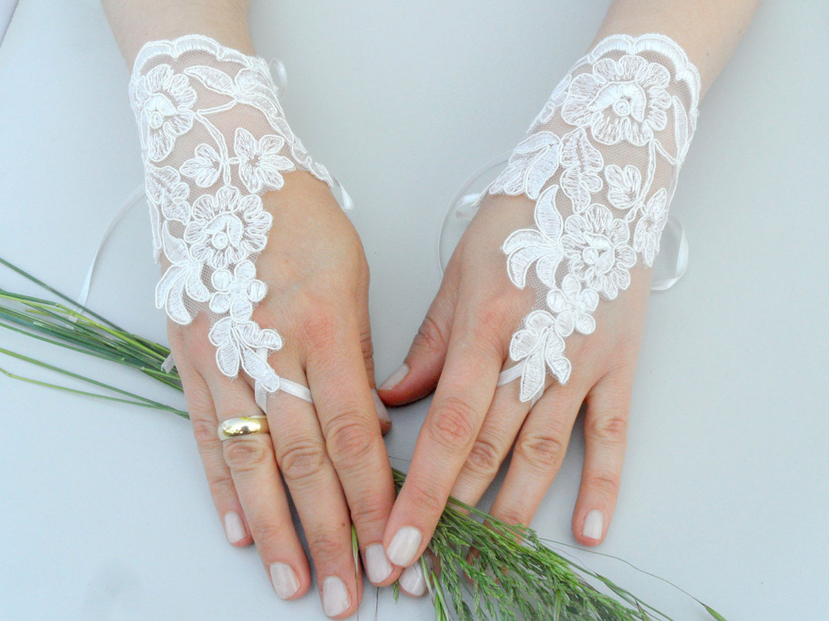 Картинки перчаток свадебных