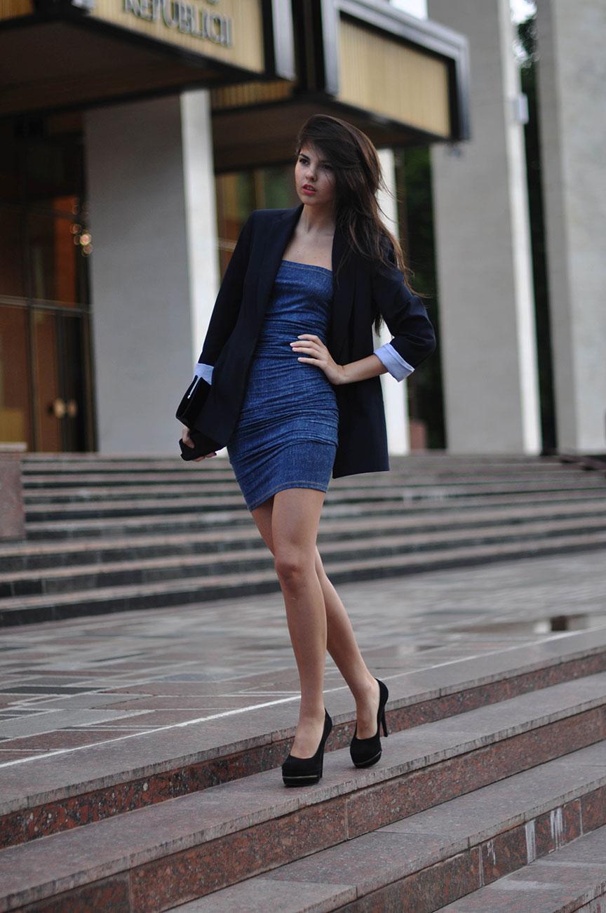 Замшевые туфли с платьем