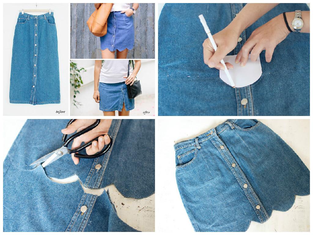 Делаем джинсовую мини-юбку