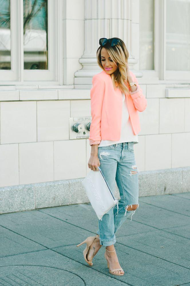 Образ с розовыми босоножками на каждый день