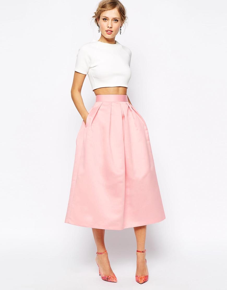 Образ на свидание с розовыми босоножками