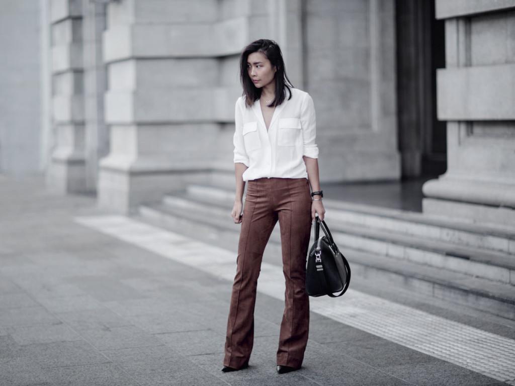 Замшевые брюки