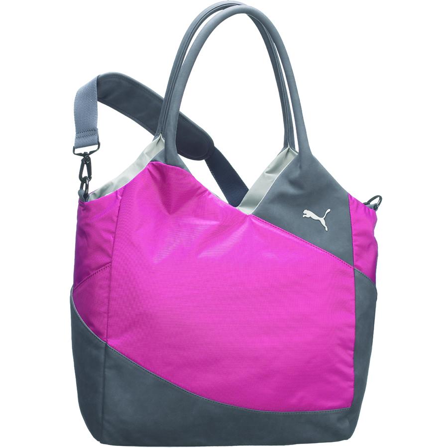 Розово-серая женская спортивная сумка