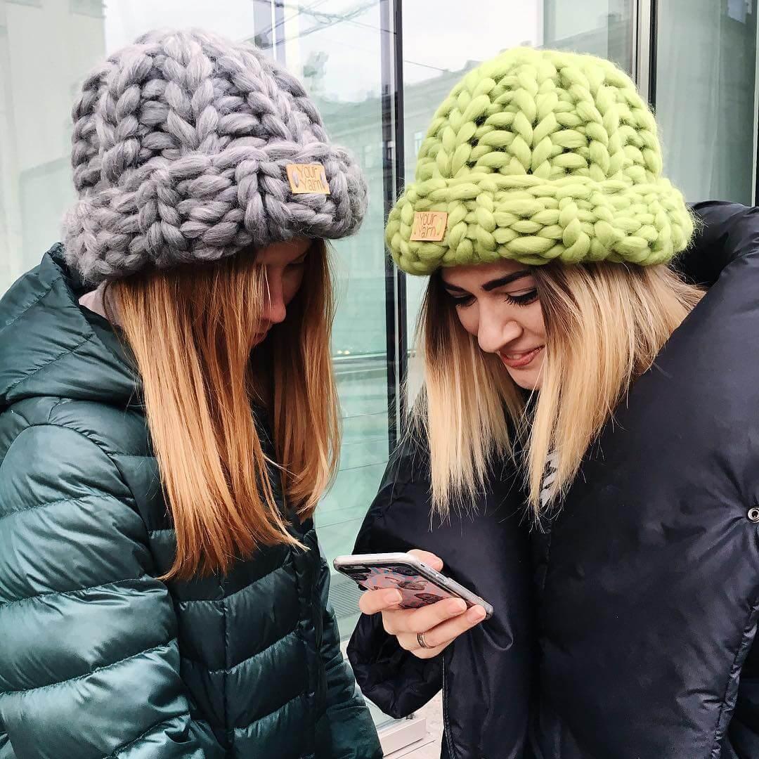 Модные Женские Шапки 2019 Вязаные на Весну и Меховые Норковые на Зиму be19b9d9baa54