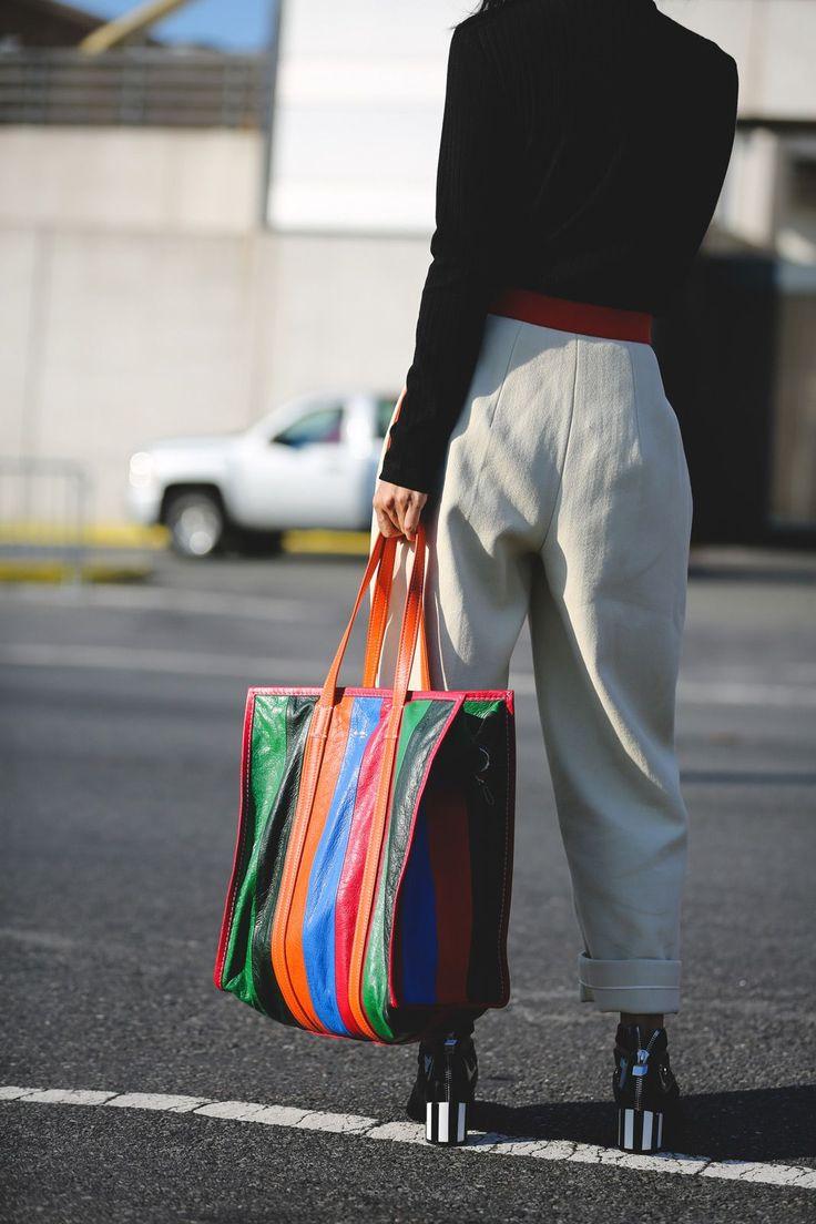 Полосатая сумка тоут
