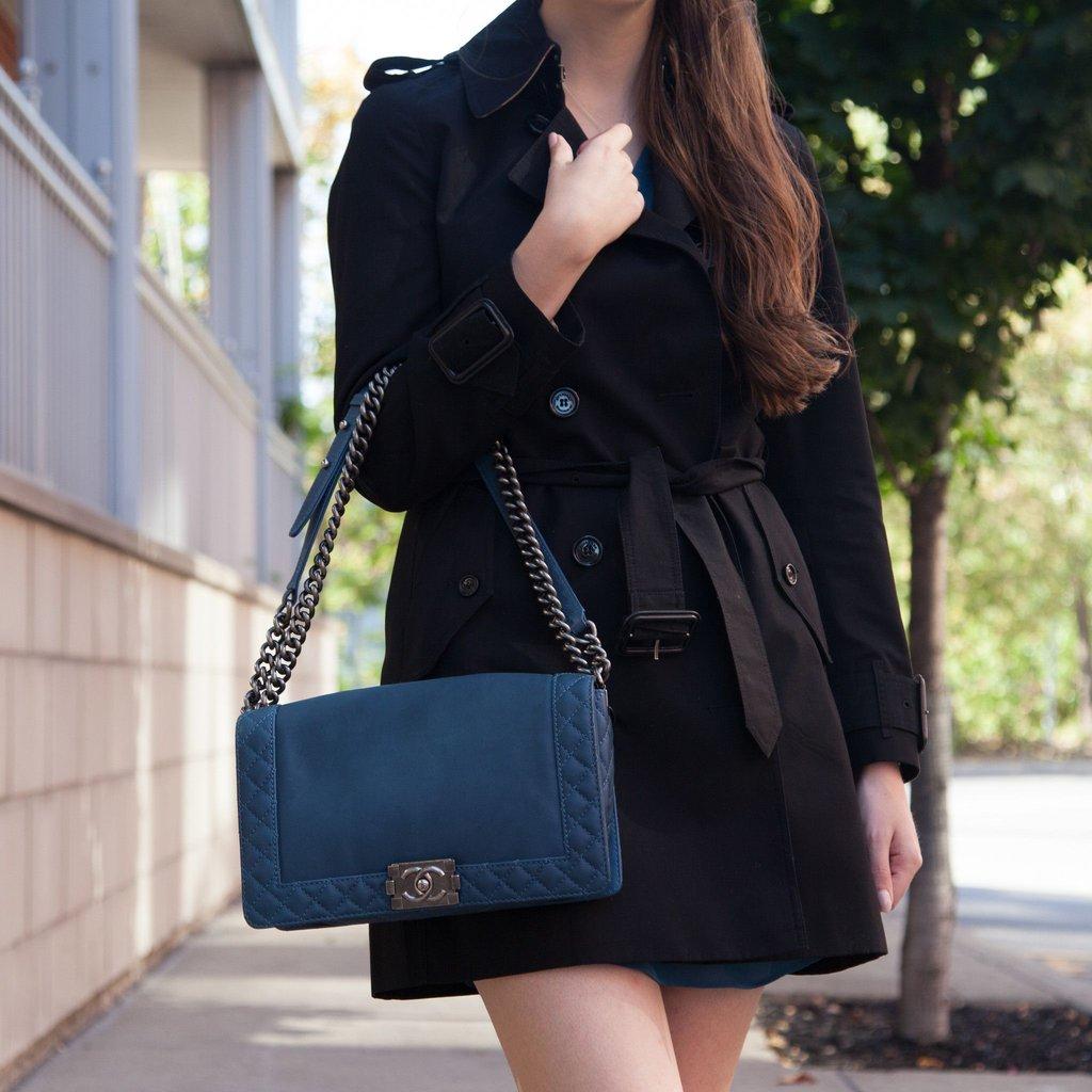 Замшевая сумка Chanel Boy