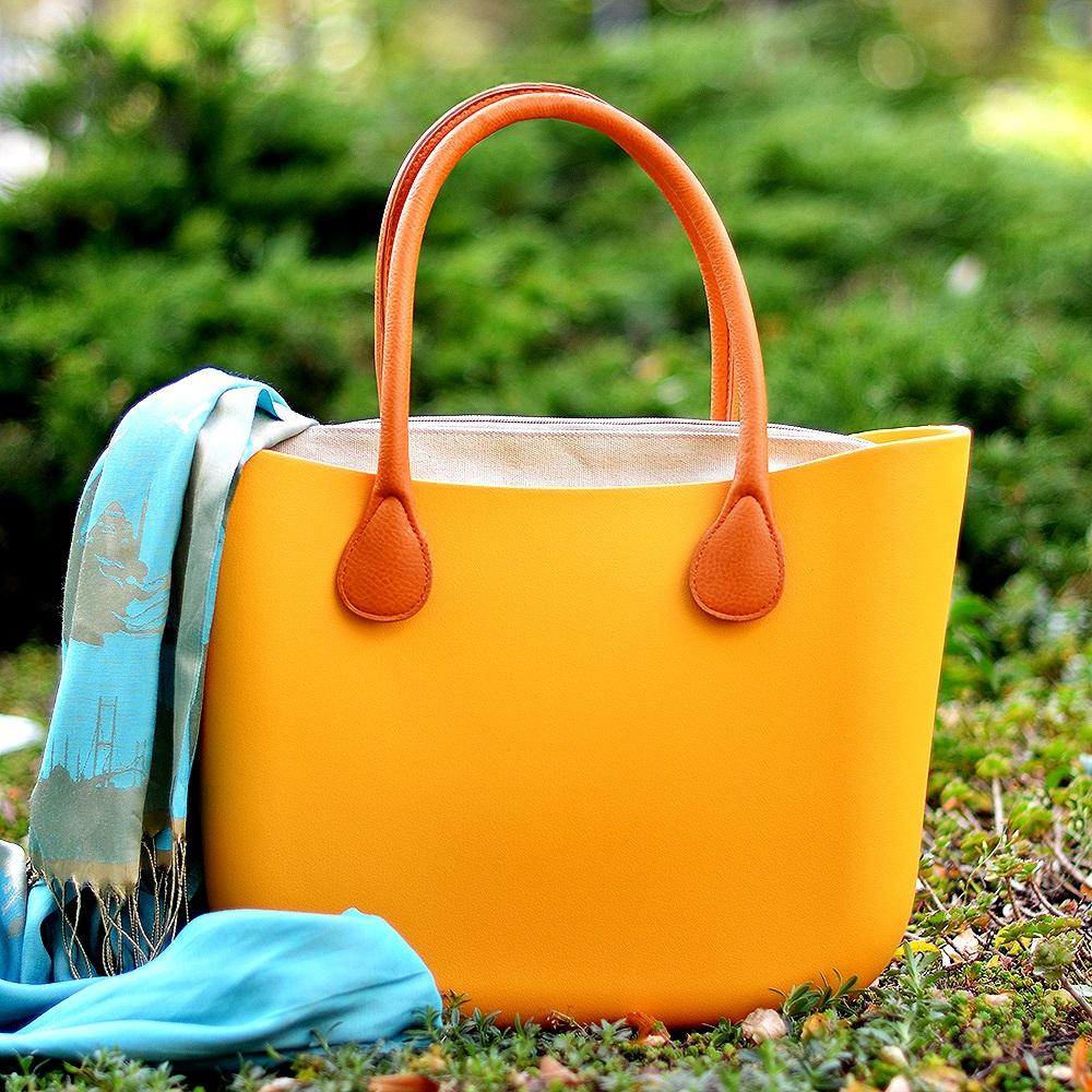 Желтая сумка тоут