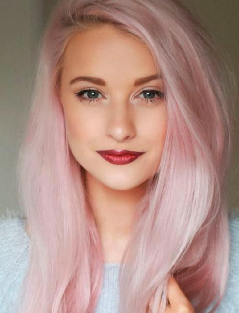 Клубничный розовый блонд
