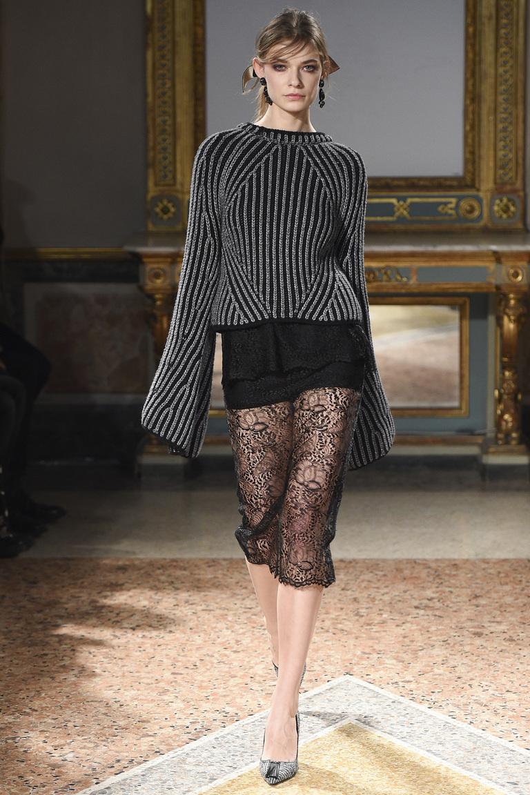 Кружевная юбка-карандаш