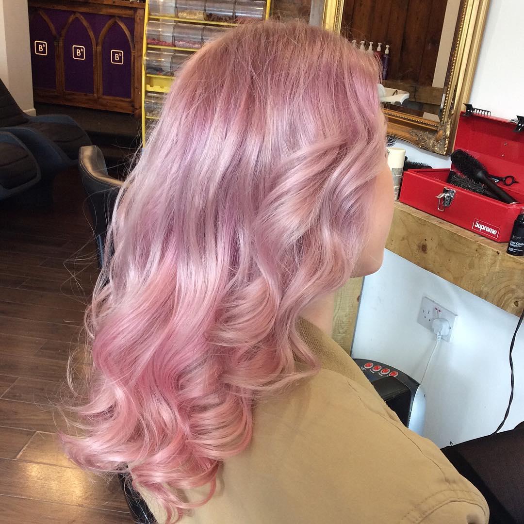 Полутон розового блонда
