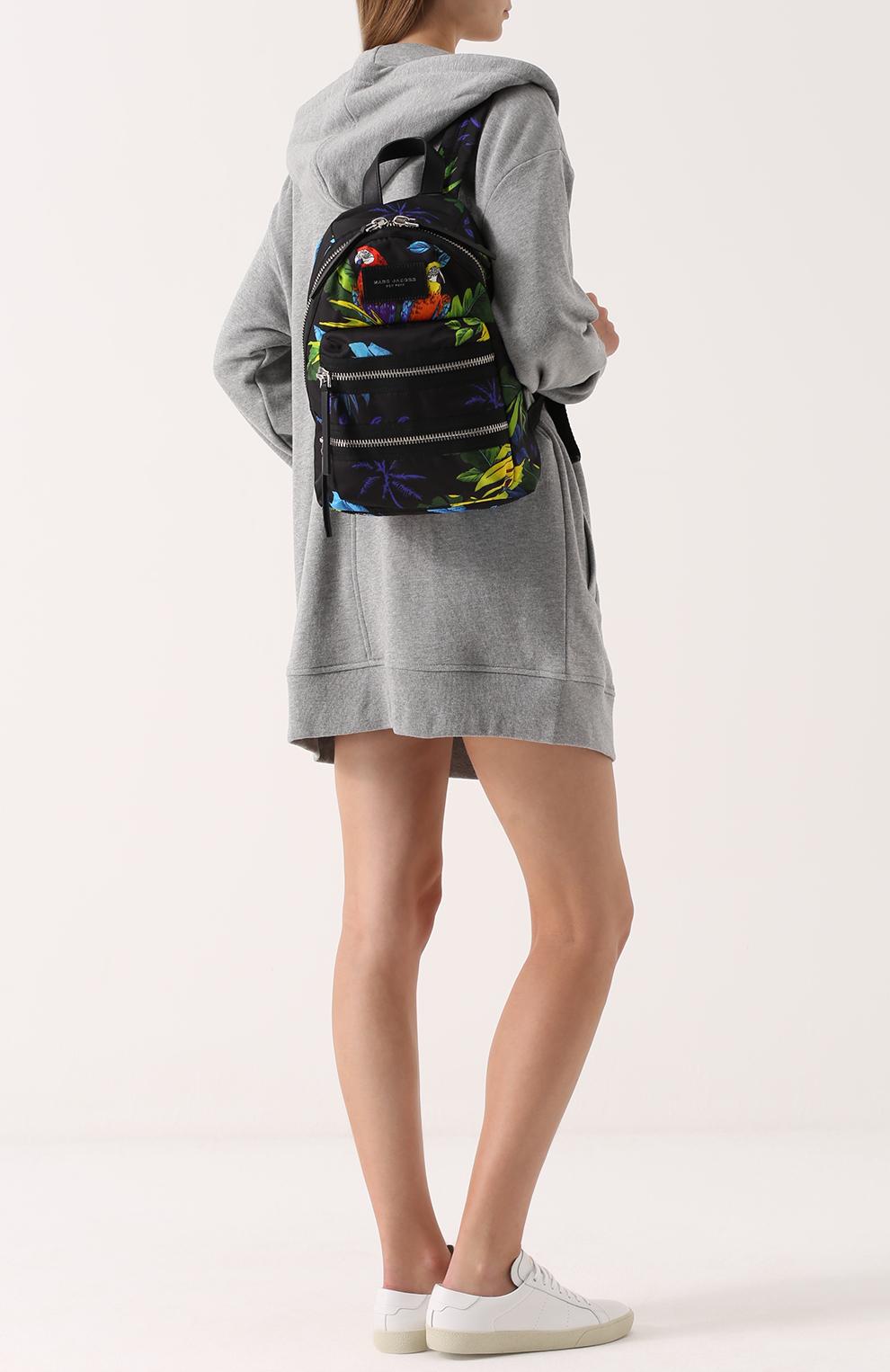 Женский тканевый рюкзак с модным принтом