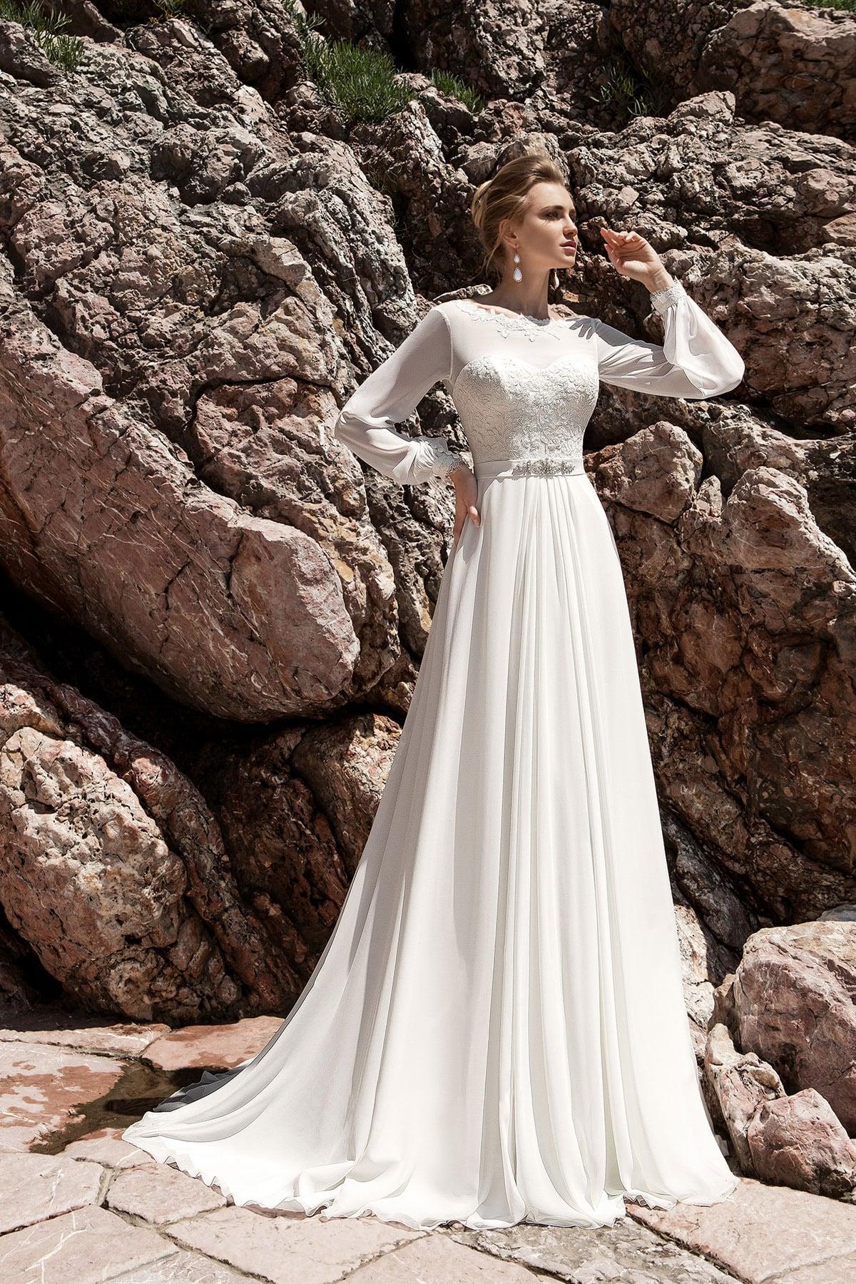 Платье для венчания в стиле ампир