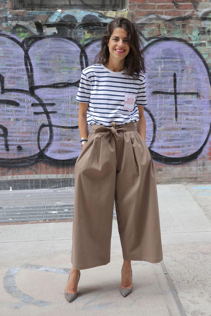Бежевые брюки-кюлоты
