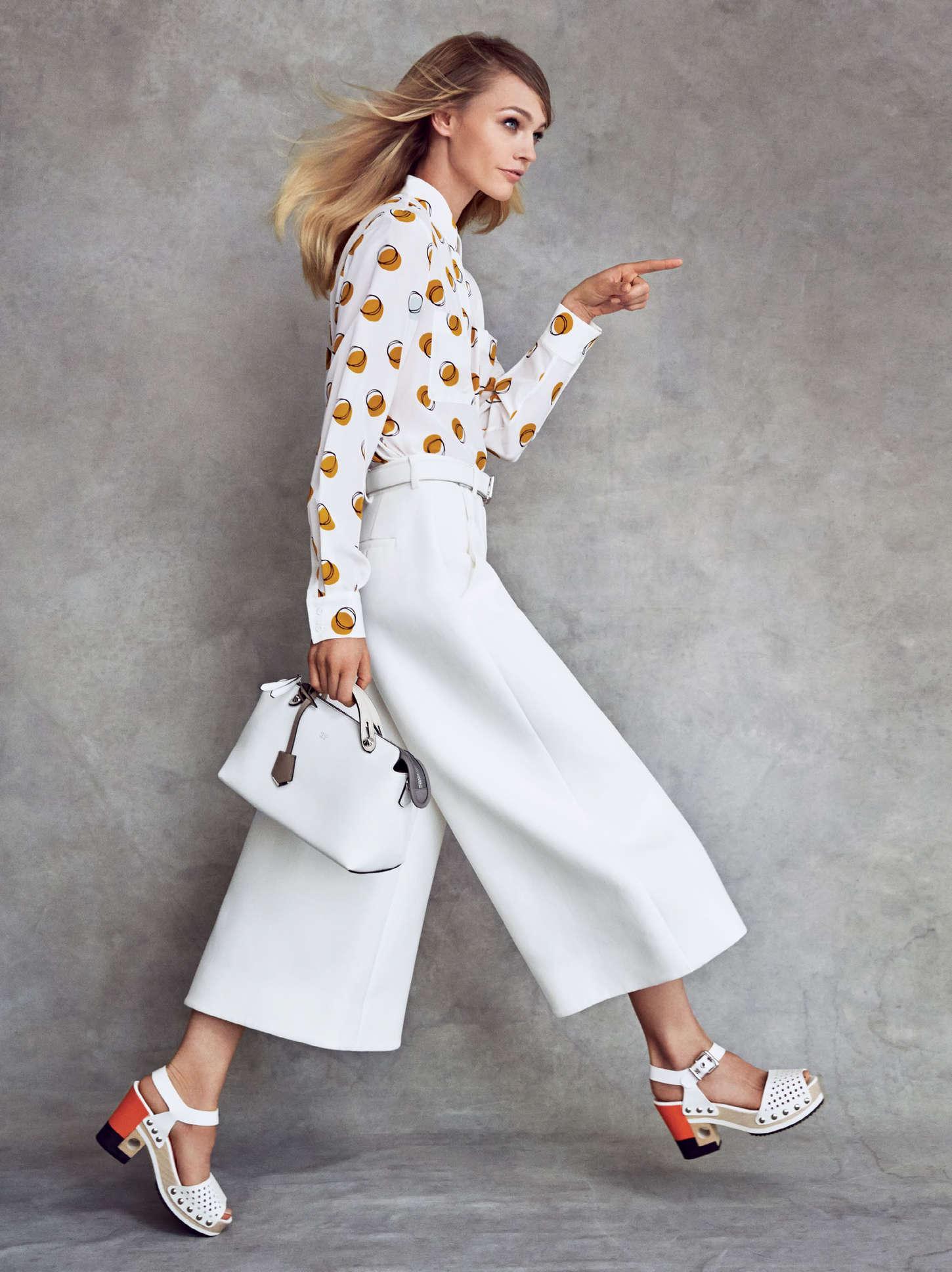 Белые брюки-кюлоты