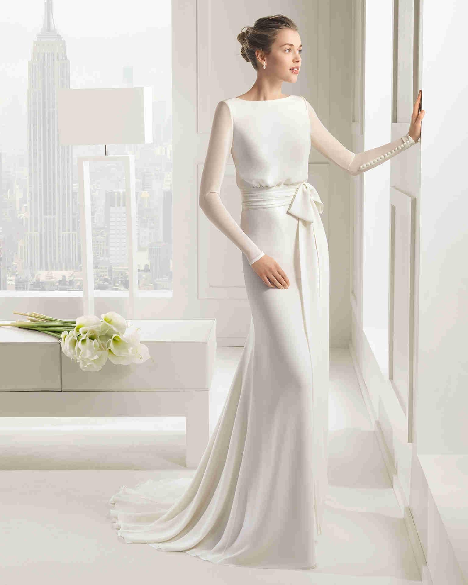 Венчальное шелковое платье