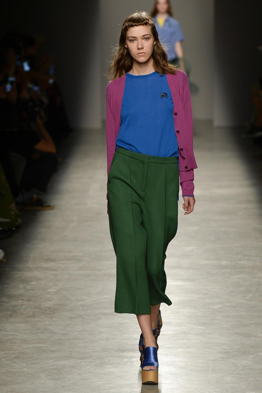 Зеленые брюки-кюлоты