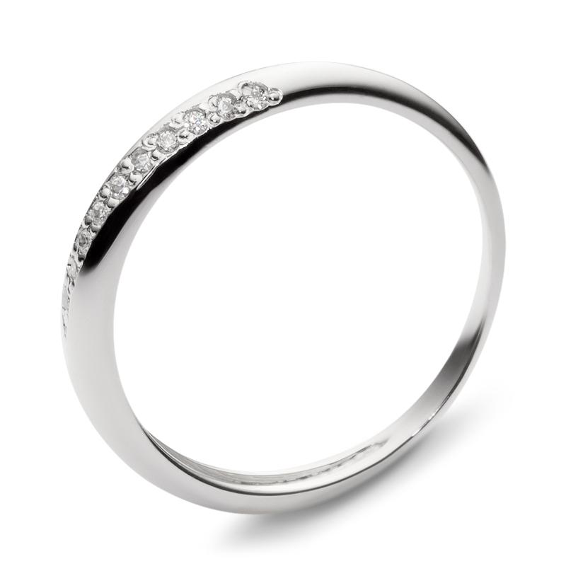 Золотое обручальное кольцо с кубическими циркониями