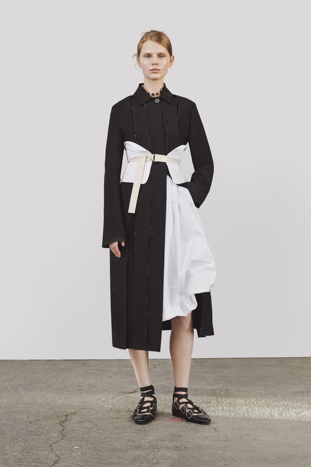 Пальто черно-белое 2018
