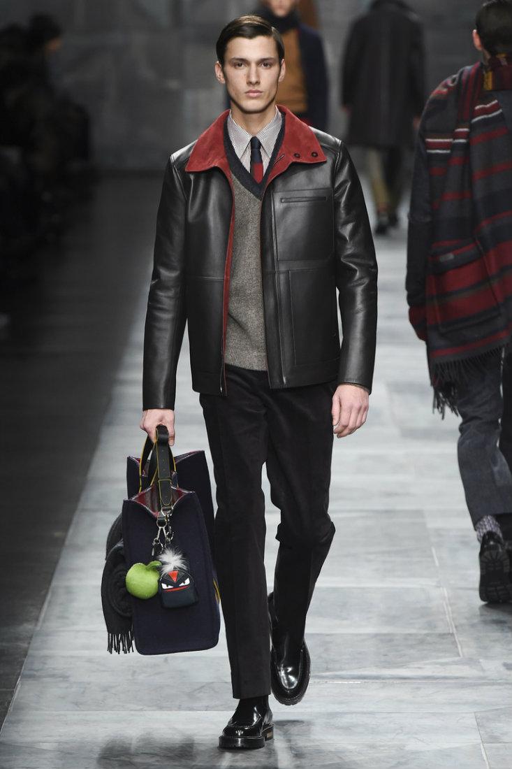 Классическая мужская кожаная куртка