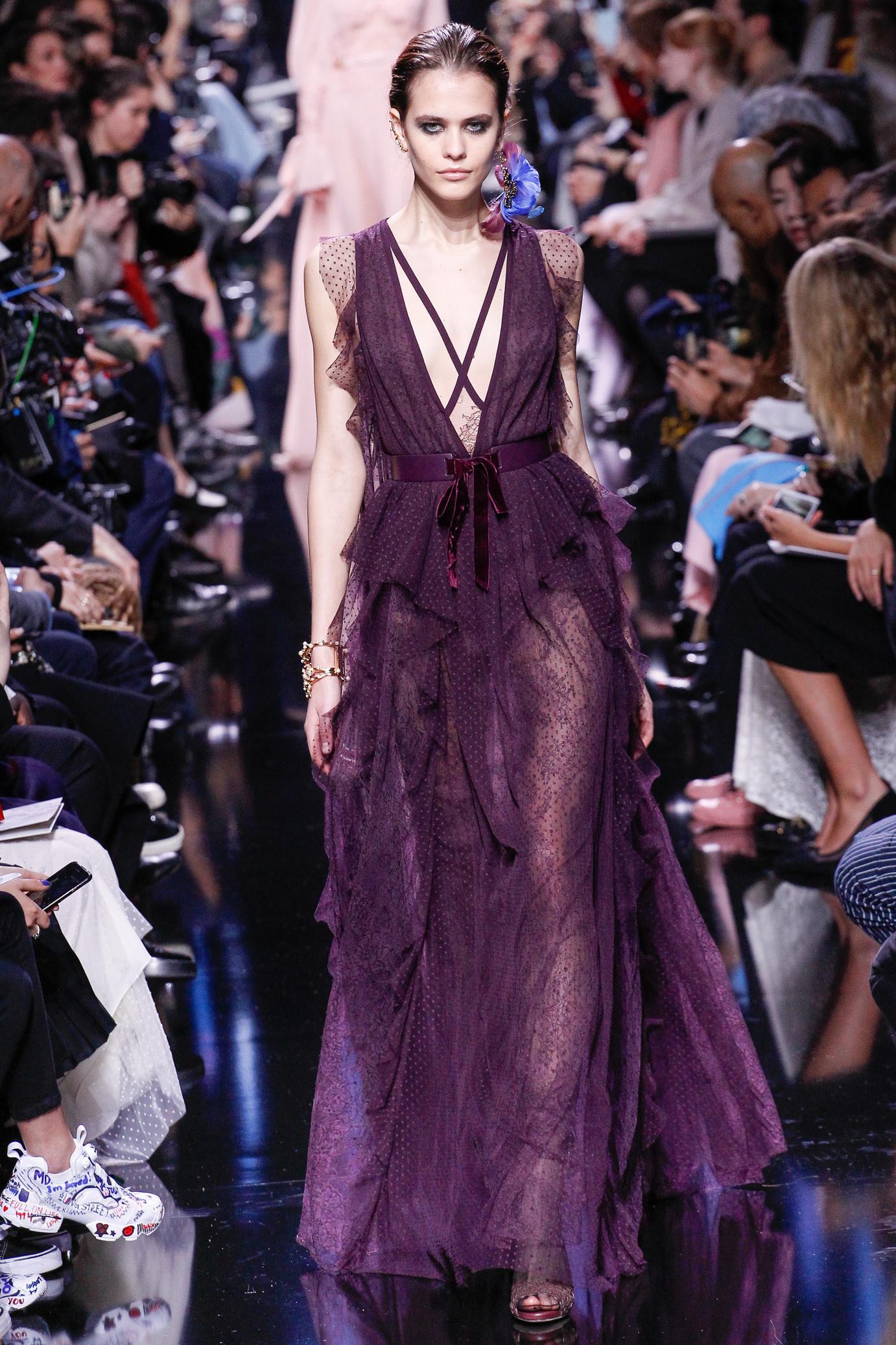 Платье 2018 фиолетовое