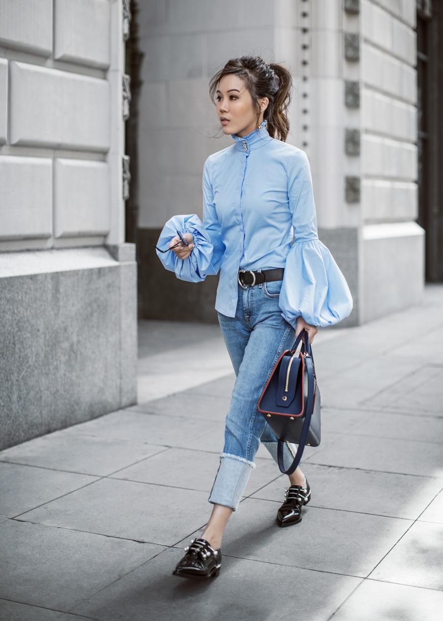 Блузка с рукавами фонариками