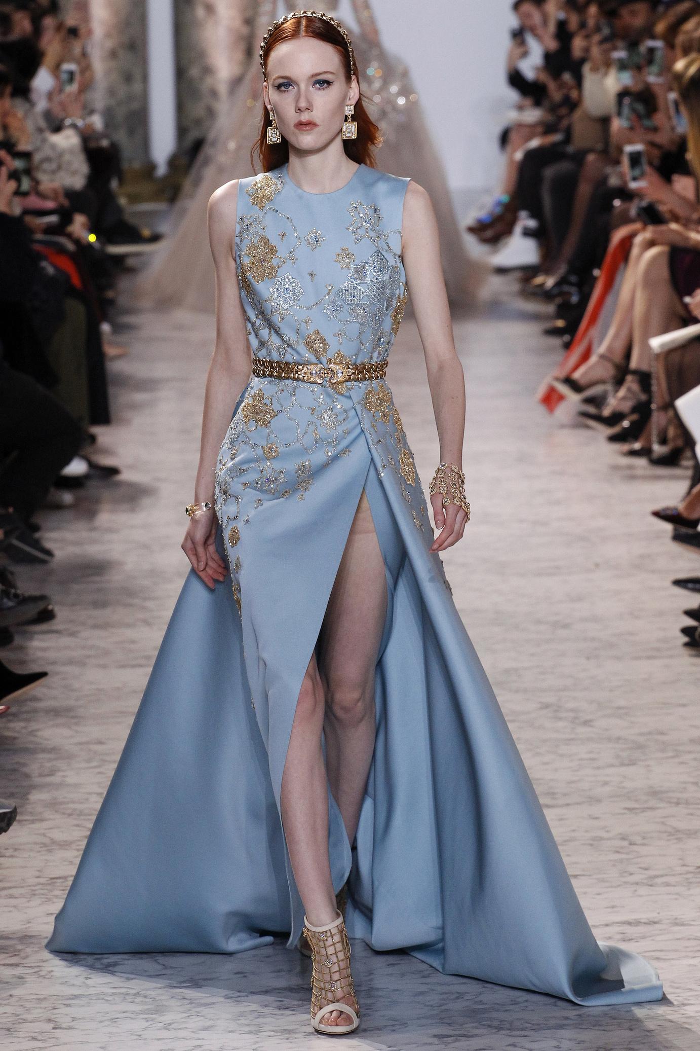 Платье 2018 голубое