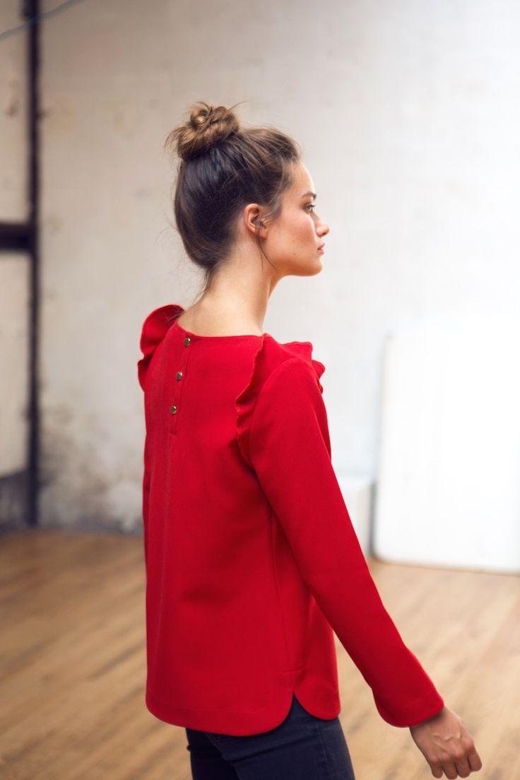 Блузка красная 2018