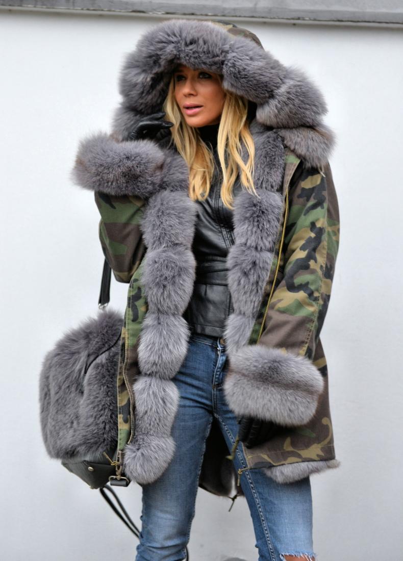 Куртка с мехом 2018