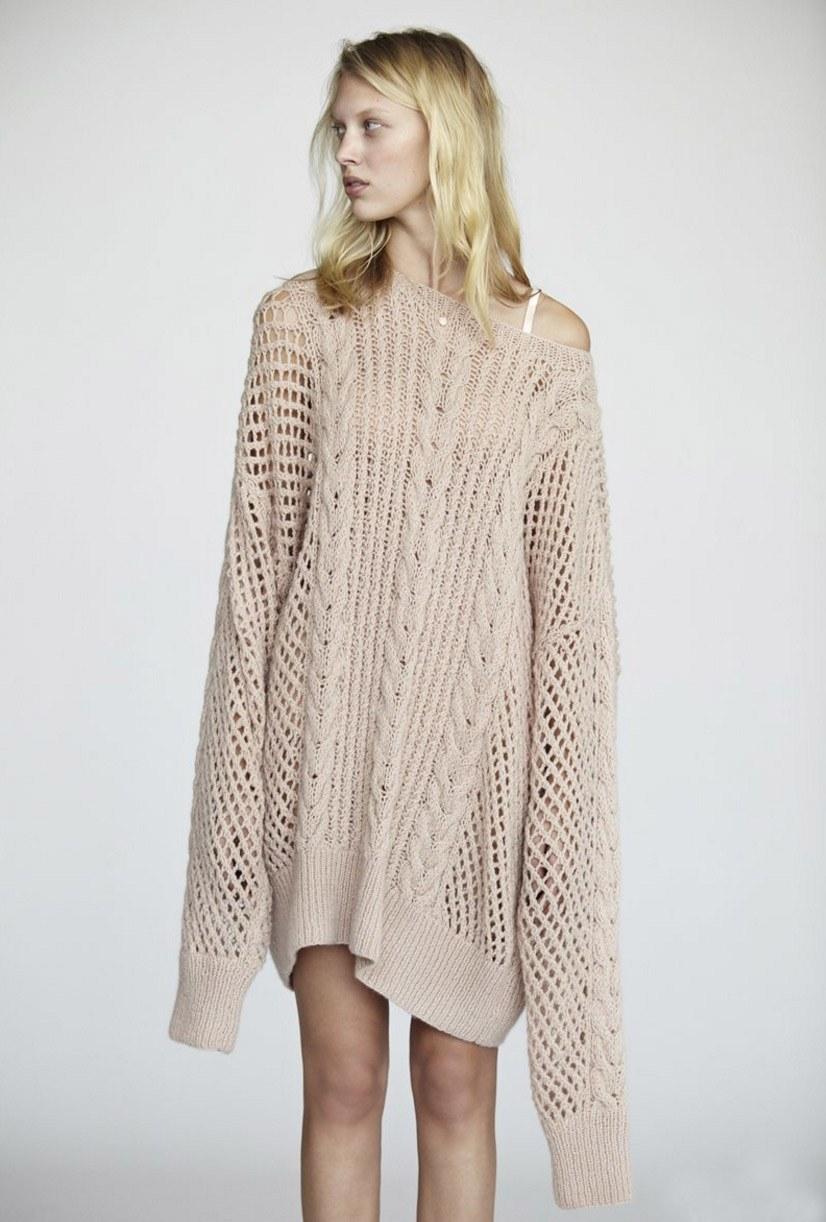 Ажурный пуловер оверсайз